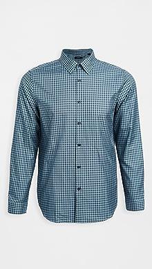 띠어리 Theory Irving Faded Check Shirt,Harbor Multi