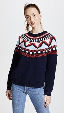 Vince Fair Isle Raglan Sweater | SHOPBOP