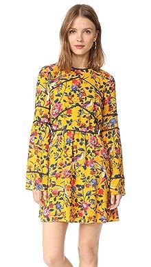 1a109f397b69c Self Portrait Eyelet Wrap Velvet Mini Dress | SHOPBOP