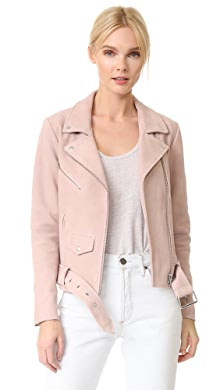 Free People Pink Leather Moto Jacket | SHOPBOP