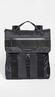 WANT LES ESSENTIELS Gowan Eco-Nylon Convertible Backpack,Black/Black