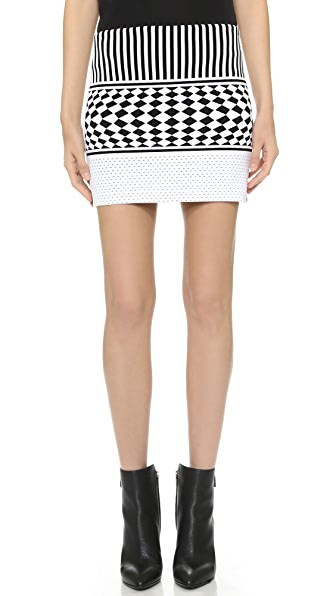 Antonio Berardi Knit Skirt - Black/White at Shopbop