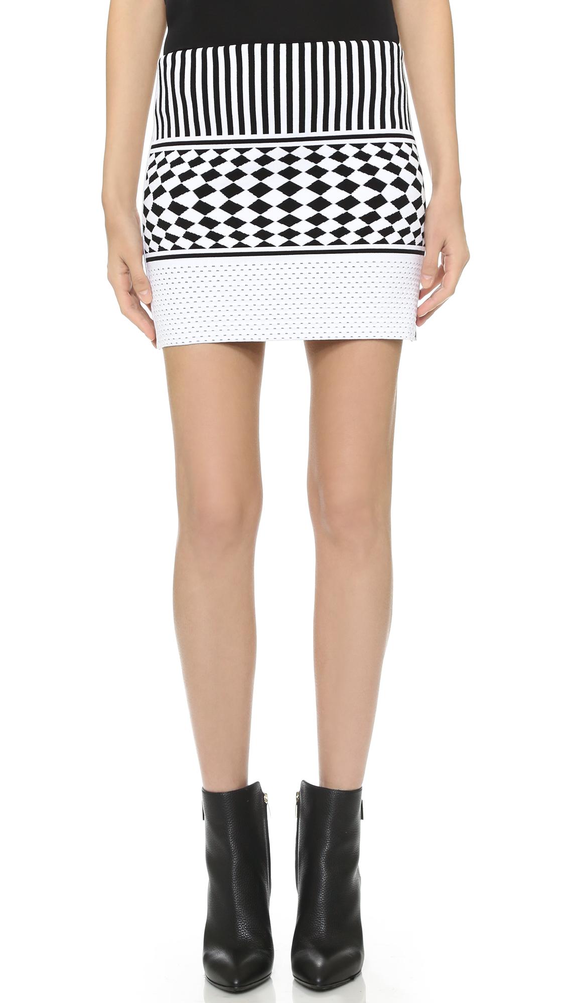 Antonio Berardi Knit Skirt - Black/White at Shopbop