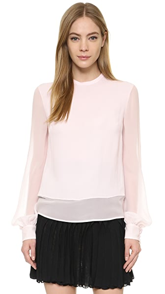 Antonio Berardi Long Sleeve Blouse - Blush at Shopbop