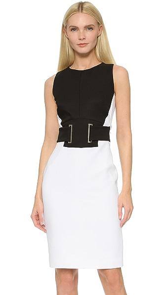 Antonio Berardi Belted Dress - Black/White at Shopbop