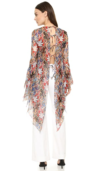 Antonio Berardi Print Top - Azzuro Cielo at Shopbop