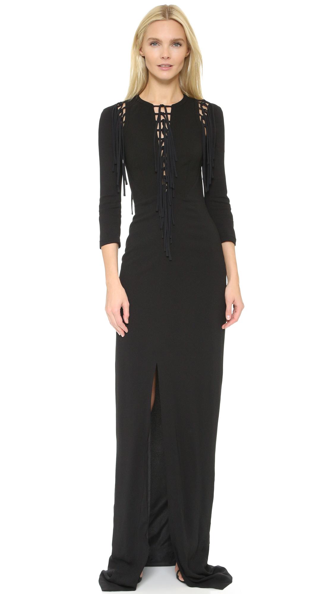 Antonio Berardi Fringe Dress - Black at Shopbop