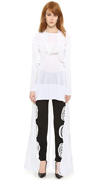 Antonio Berardi Lace Trim Lop Top at Shopbop