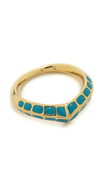 Aurelie Bidermann Turquoise Curve Ring - Gold at Shopbop
