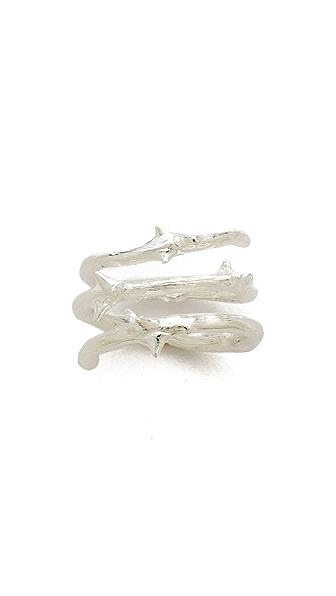 Aurelie Bidermann Rosebud Ring - Silver at Shopbop