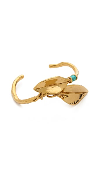 Aurelie Bidermann Monteroso Leaf Bangle - Gold at Shopbop
