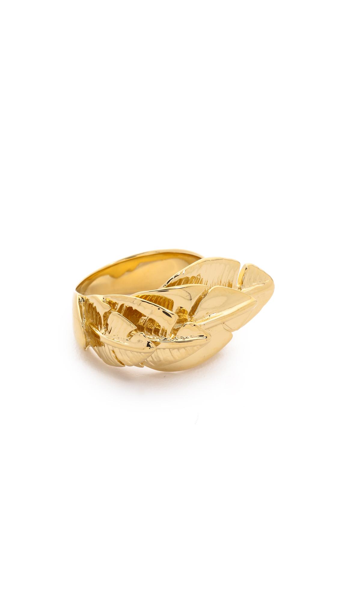 Aurelie Bidermann Talitha Ring - Gold at Shopbop
