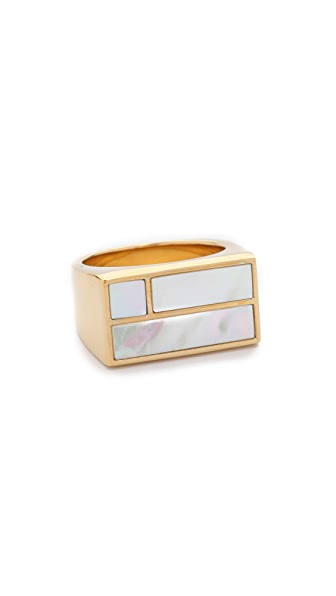 Aurelie Bidermann Bianca Square Ring - Nacre at Shopbop