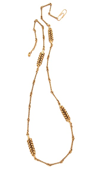 Aurelie Bidermann Wheat Long Necklace