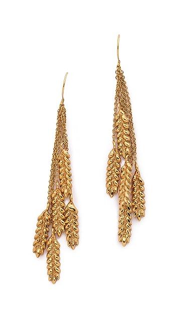Aurelie Bidermann Wheat Pendant Earrings