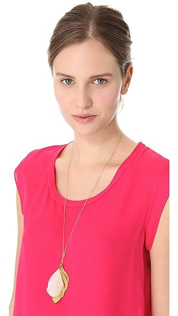 Aurelie Bidermann Swan Feather Necklace