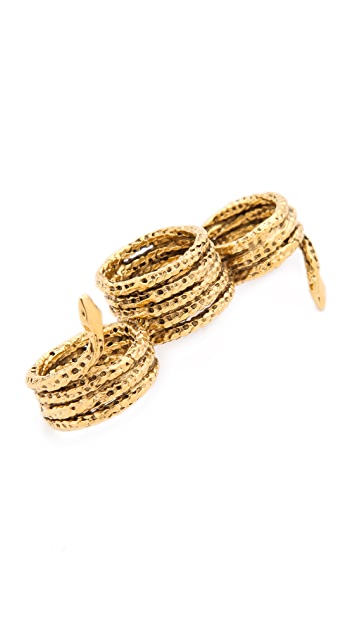 Aurelie Bidermann Three Snakes Ring