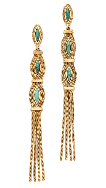 Aurelie Bidermann Sunset Clip On Earrings with Turquoise