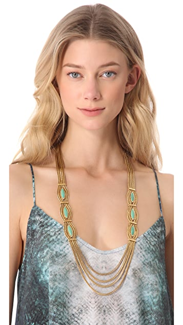 Aurelie Bidermann Sunset Necklace with Turquoise