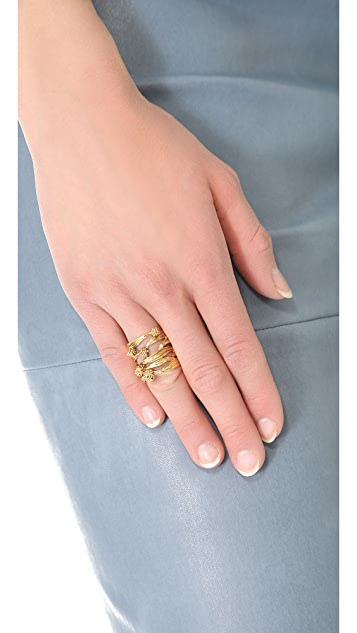 Aurelie Bidermann Surfing Mimosa Ring