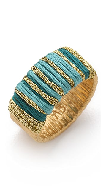 Aurelie Bidermann Ocean Beach Ring with Threads