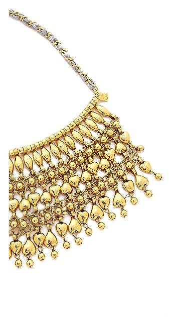 Aurelie Bidermann Heart Beaded Bib Necklace