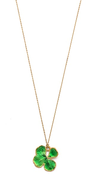Aurelie Bidermann Organic Clover Necklace