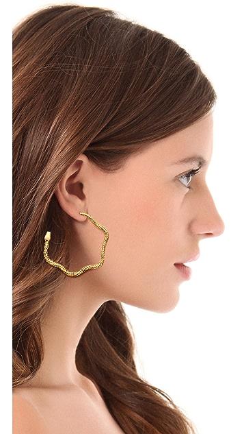 Aurelie Bidermann Snake Hoop Earrings