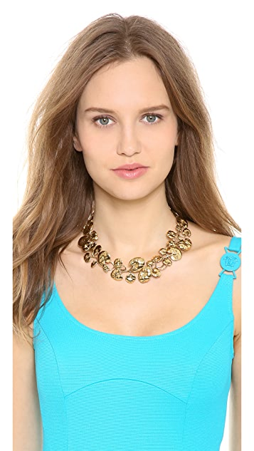 Aurelie Bidermann Nympheas Leaves Necklace