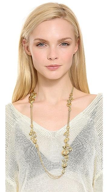 Aurelie Bidermann Nympheas Leaves Necklace