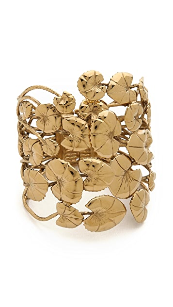Aurelie Bidermann Nympheas Leaves Cuff