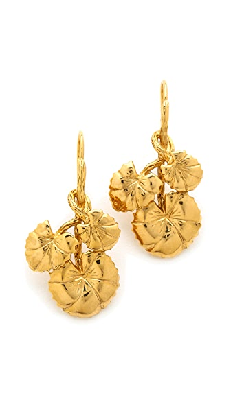 Aurelie Bidermann Nympheas Leaves Earrings