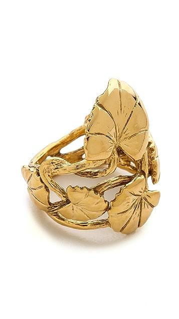 Aurelie Bidermann Nympheas Leaves Ring