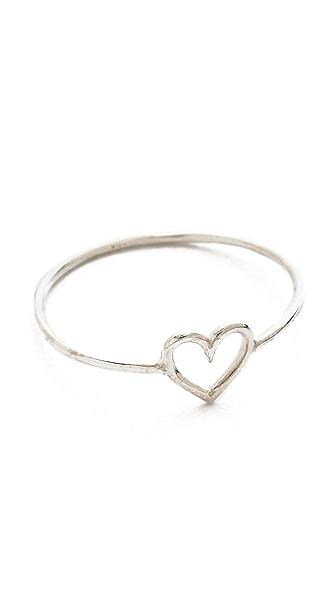 Aurelie Bidermann 750 Sterling Silver Love Ring