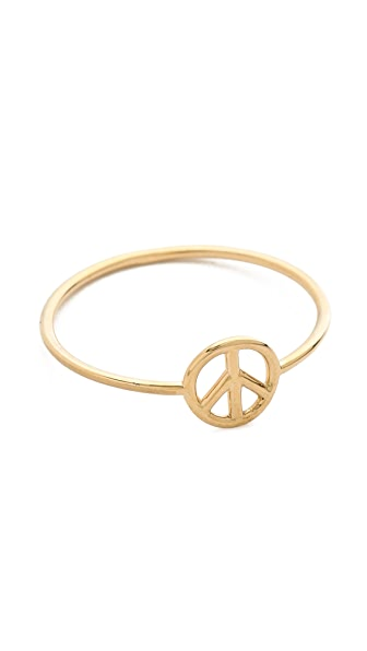 Aurelie Bidermann 18k Gold Peace Ring