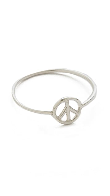 Aurelie Bidermann 750 Sterling Silver Peace Ring