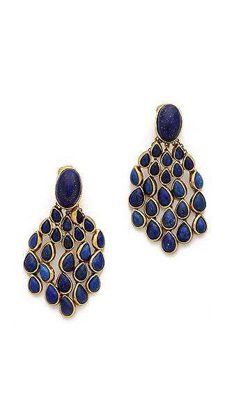 Aurelie Bidermann Wild West Clip On Lapis Lazuli Earrings