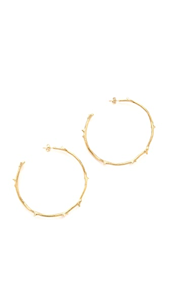 Aurelie Bidermann Rosebud Earrings