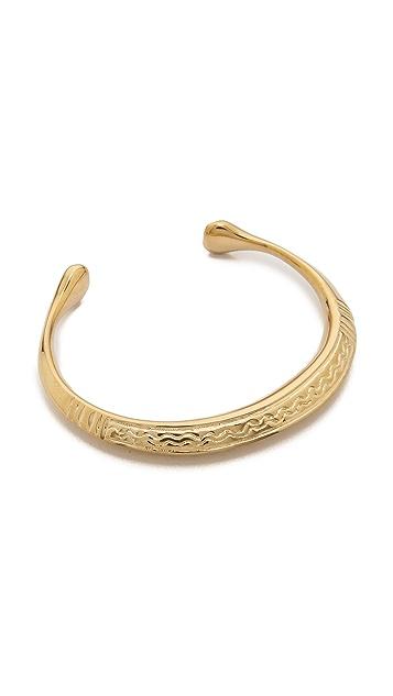 Aurelie Bidermann Tribal Engraved Bracelet