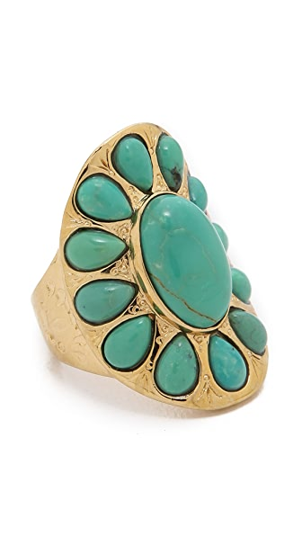 Aurelie Bidermann Tribal Turquoise Ring