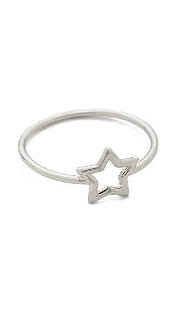 Aurelie Bidermann Silver Star Ring