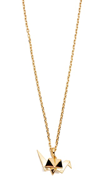 Aurelie Bidermann Fine Jewelry Origami Charm with Chain Necklace - Gold