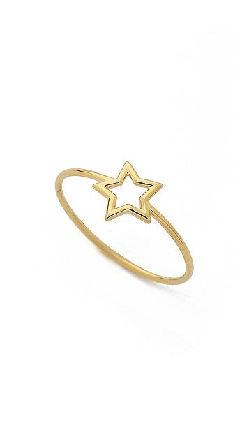Aurelie Bidermann Fine Jewelry 18k Gold Thin Star Ring