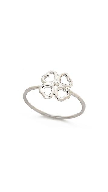 Aurelie Bidermann Fine Jewelry Sterling Silver Mini Clover Ring