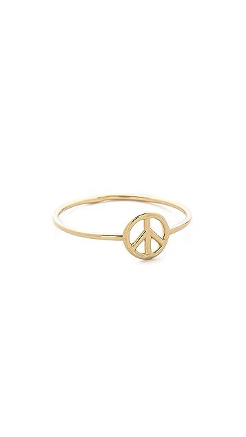 Aurelie Bidermann Fine Jewelry 18k Gold Peace Ring