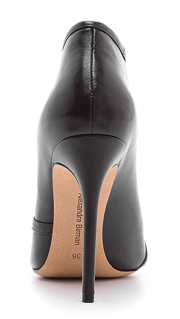 Alexandre Birman Magnolia Split Leather Booties