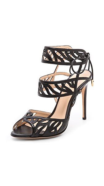 Alexandre Birman Cage Stiletto Sandals