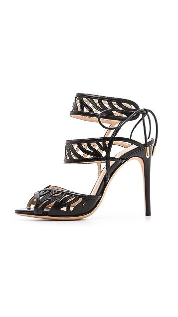 Alexandre Birman Cage Stiletto Sandals