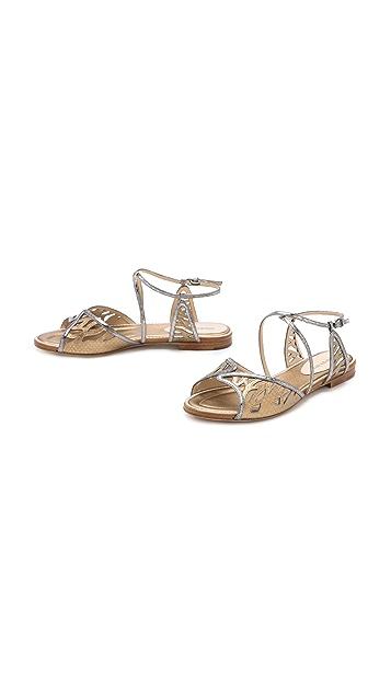 Alexandre Birman Watersnake Flat Sandals