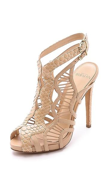 Alexandre Birman Snakeskin & Leather Sandals